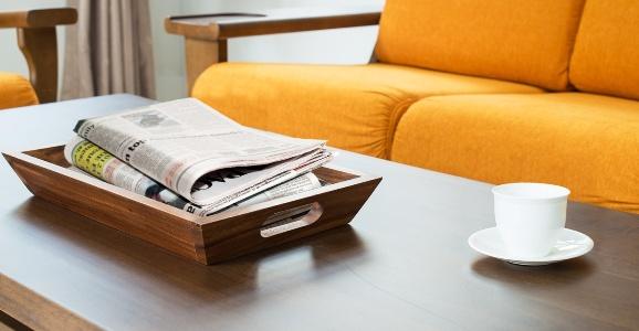 газеты на столе