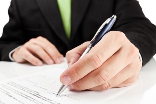 подписание документа для ипотеки