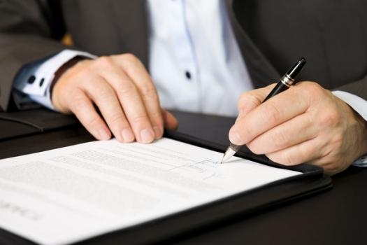 подпись необходимых документов