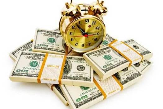 доллары с будильником