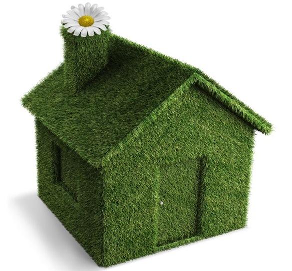 дом в траве
