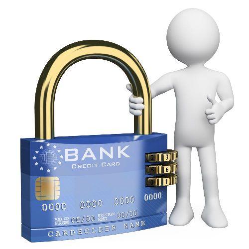 замок от кредитной карты