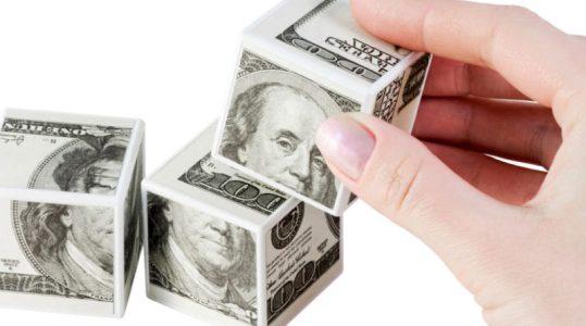 кубики с долларами