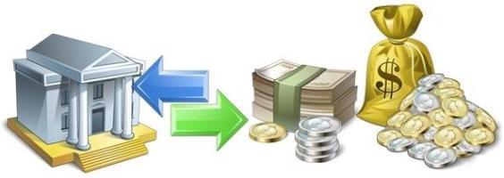 деньги в банк и обратно
