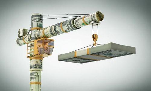 кран из денег