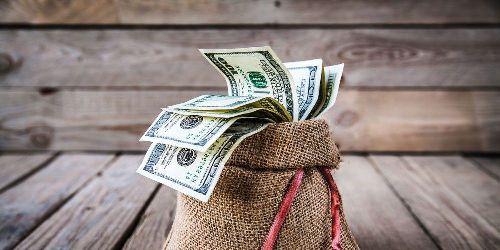 мешочек с долларами